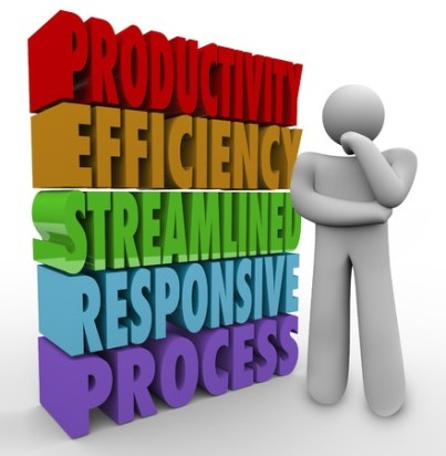 Productivity, Efficiency, Streamline, Responsive and Process